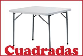mesas plegables cuadradas