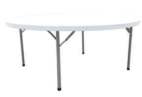 mesa plegable redonda