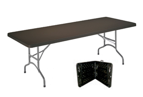 mesa plegable tipo maleta negra