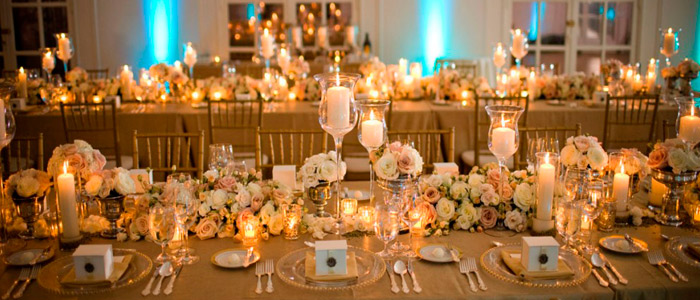 como decorar mesas para boda