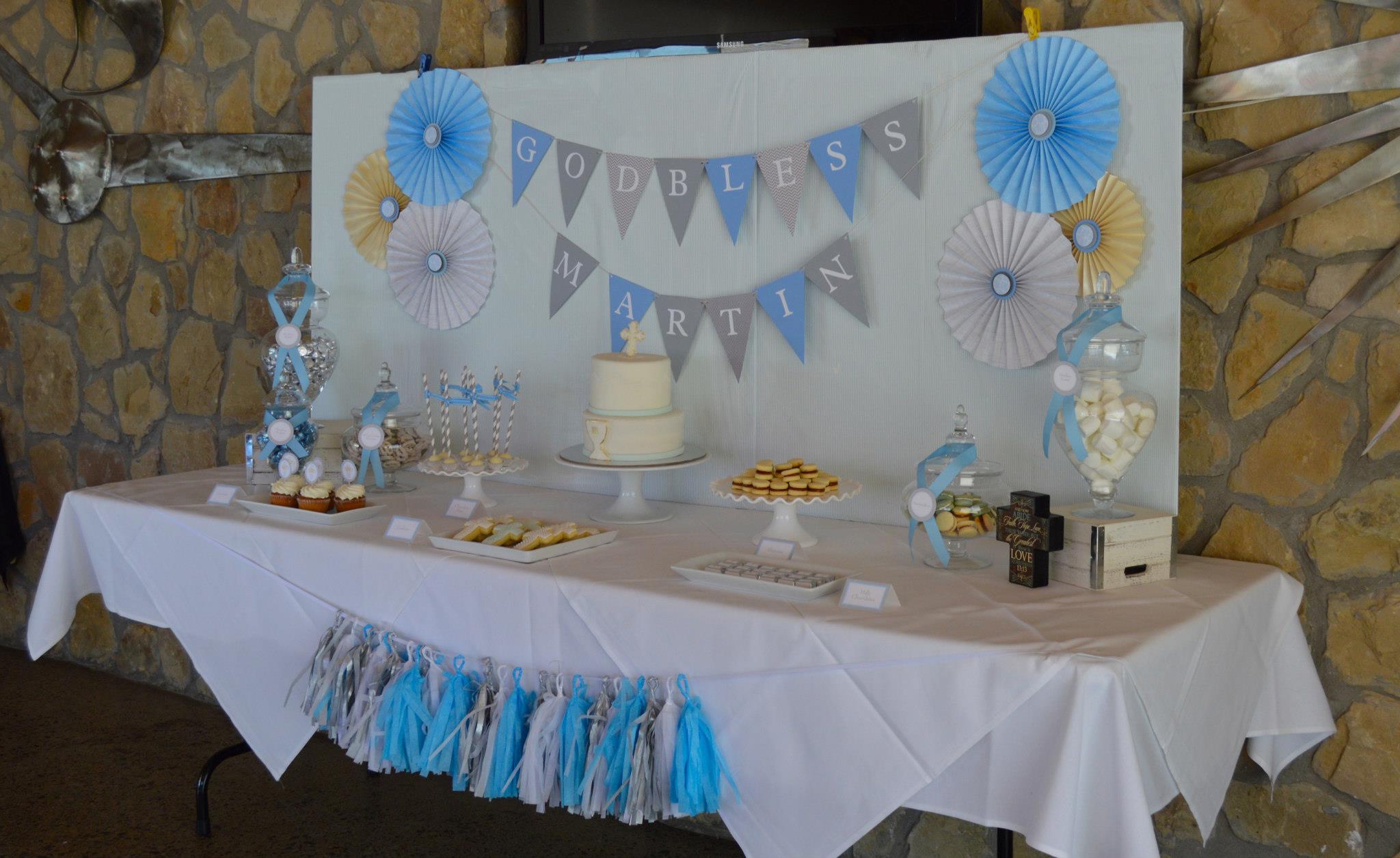 como decorar una mesas para una comunion