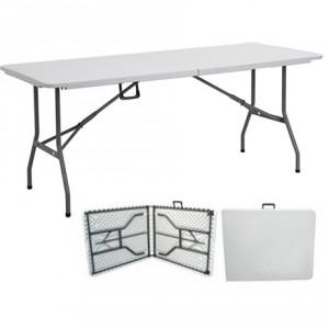 mesa plegable tipo maleta de 240 cm