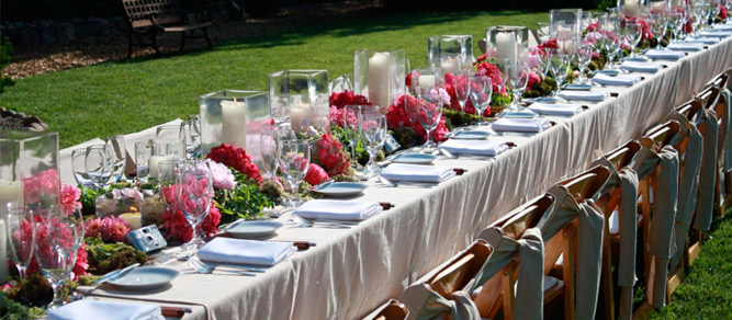 decorar mesas largas