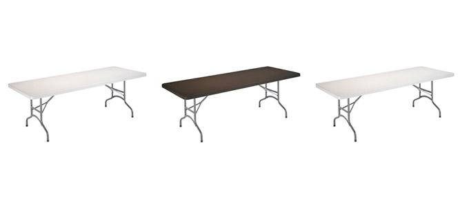 mesas rectangulares para fallas