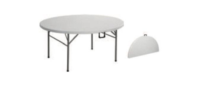 mesa blanca plegables