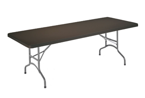 mesa plegable rectangular negra