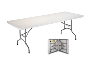 Mesas plegables tipo maleta for Mesa de camping plegable de aluminio