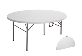 mesa plegable redonda tipo maleta