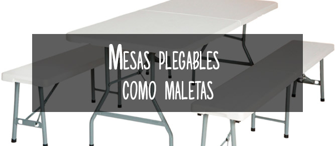 mesas plegables como maletas